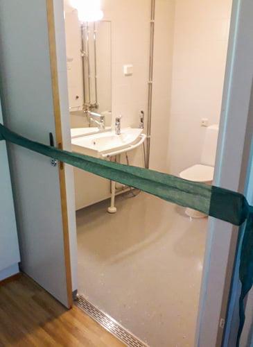Ensimmäinen valmis kylpyhuone